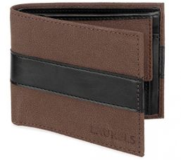 Buy Laurels Tarrain Brown And Black Men's Wallet (TRN-0201) from Amazon