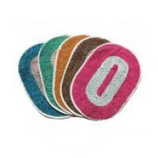 Buy Fresh From Loom Multicolor Oval Door Mat - Set of 5 from ShopClues