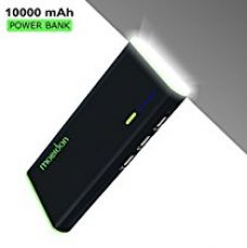 Moerdon Tri Usb Power Banks 10000mAh With Led Lamp & Auto Detect Outport Port 10000Mah,Black for Rs. 1,199