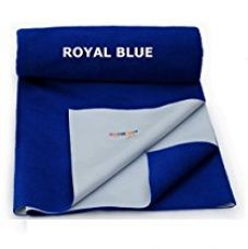 MAGICAL - QUICK DRY WATERPROOF MATTRESS PROTECTOR BABY SHEET - LARGE (ROYAL BLUE) SIZE - 100 CM * 140 CM for Rs. 507