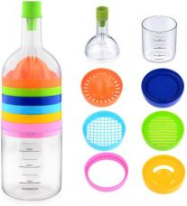 Get 69% off on Ideale Multi Tool Bottle 8 in 1 Plastic Grater  (Multicolor)