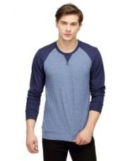 Buy Campus Sutra Blue Round T Shirts for Rs. 549