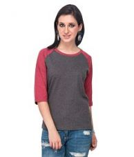 Flat 45% off on Campus Sutra Grey Cotton Tops