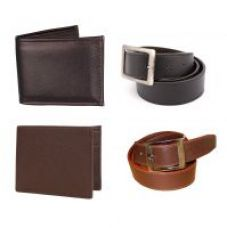Classic 2 Belts and 2 Wallets combo for Rs. 199