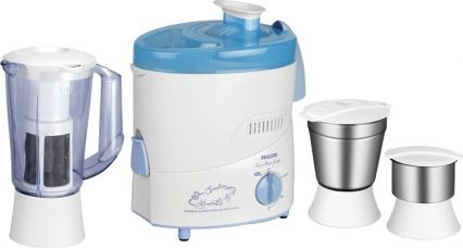 Buy Philips HL1632 500 W Juicer Mixer Grinder  (Blue, 3 Jars) for Rs. 3,199