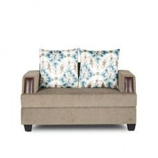 Buy Elanza Two Seater Sofa Olive And Teal from Fabfurnish