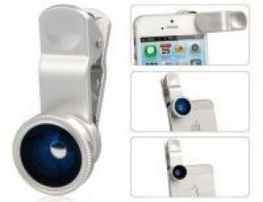 Universal Clip 3 In 1 Fisheye-lens Wide-angle & Macro Camera Lens Kit Iph for Rs. 210