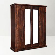 Mondo Four Door Wardrobe Brown for Rs. 59,900
