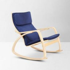 Get 43% off on Vita Rocking Chair Beige And Blue