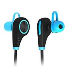 Leaf Ear Wireless Bluetooth Earphones with Mic (Cool Blue)- Sweatproof Earbuds || Best for Listening Music, Running, Gym || Passive Noise Cancellation || HD Stereo Sound Quality || Compatible with Iphones, IPads, Samsung and other Android Devices for Rs. 2,499