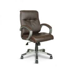 Buy Hugo Leatherite Medium Back Office Chair Brown for Rs. 9,900