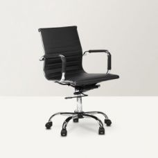 Buy Astra Low Back PU Office Chair Black for Rs. 6,900