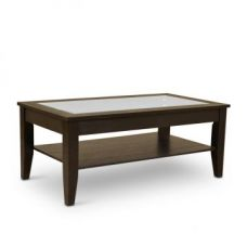 Buy Abby Coffee Table Dark Brown from Fabfurnish