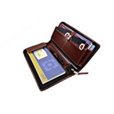 Buy COI Brown expendable leatherite cheque book holder/document holder from Amazon