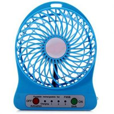 Buy One-Stop-Shop Mini Usb Rechargeable Fan(Multicolor) from Amazon