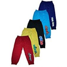 T2F kids Boys Track Pant (Pack of 5) -Red- Black- Violet- Yellow- Blue (4-5 Years) for Rs. 628