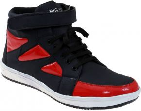 Buy Presidency Sneakers  (Black, Red) from Flipkart