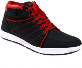 Presidency Sneakers  (Black, Red) for Rs. 49