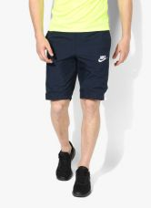 Get 40% off on Nike As Nsw Wvn Navy Blue Shorts