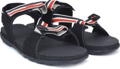 Buy Puma Men Puma Black-Limestone-High Risk Red Sports Sandals from Flipkart