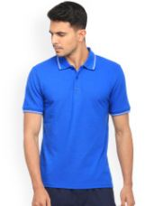 Buy Solid Polo Collar T-shirt from Myntra