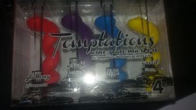 Flat 70% off on Temptations - wine glass charms-Multi