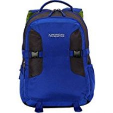 Buy American Tourister Polyester 27 Ltrs Blue Laptop Backpack (AMT BOP2017 LAPTOP BKPK 3-BLUE) from Amazon