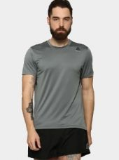 Buy Reebok Workout Tech Men Dark Grey Slim Fit Training T-shirt from Abof