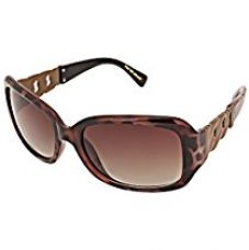 Buy Foster Grant UV Protected Rectangular Women's Sunglasses - (FOSTER GRANT KAROLINA 201 POL IND |57 Brown Color) from Amazon