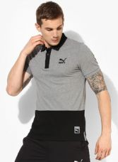 Buy Puma Archive Logo Grey Polo T-Shirt for Rs. 1080