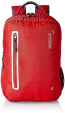 Buy American Tourister Polyester 27 Ltrs Red Laptop Backpack (AMT BOP 2017 LAPTOP BKPK 4-RED) from Amazon