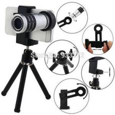 Buy 8X Zoom Universal Mobile Phone Telescope Camera Lens & Tripod+Adjustable Holder from Ebay