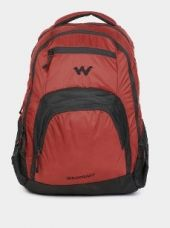 Buy Wildcraft Unisex Red & Black Laptop Backpack from Abof