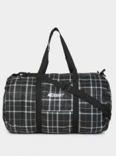 Buy Wildcraft Unisex Black & White Checkered Duffle Bag from Abof