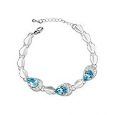 Buy NAKABH Blue Nickel Free Chain Bracelet For Women from Amazon