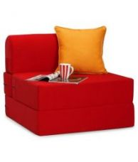Single Size Sofa cum Bed in Maroon for Rs. 6,489