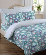 Flat 50% off on Welhome Double Poly Cotton Printed Bed Sheet