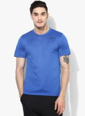 Get 35% off on Nike As Legend 2.0 Ss Blue Round Neck T-Shirt