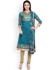 Buy Embroidered Unstitched Dress Material for Rs. 539