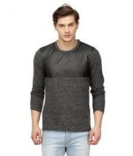 Campus Sutra Grey Round T Shirts for Rs. 549