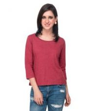 Campus Sutra Maroon Cotton Tops for Rs. 384