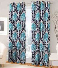 Get 75% off on Fashion Fab Set of 2 Door Eyelet Curtains Printed Multi Color