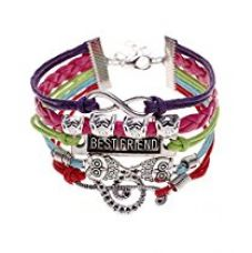 Young & Forever Inspirational Best Friend Owl Infinity Music Wrap Bracelet For Boys Girls B321 for Rs. 399