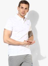 Buy Puma Aop White Polo T-Shirt from Jabong