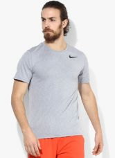 Get 40% off on Nike As Brt Ss Hpr Dry Grey Training Round Neck T-Shirt