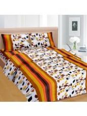 Buy Cortina Cortina Double Bedsheet With Tow Pillow Co for Rs. 552