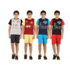 Buy Zippy Boys Multicolor Tshirt and Shorts set (Pack of 4) for Rs. 999