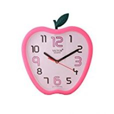 Buy Victor Plastic Analog Wall Clock (26 cm x 26 cm x 5 cm, Pink, X06-PINK) from Amazon