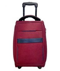 Get 61% off on Caris Maroon Polyester Trolley Backpack