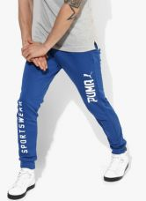 Get 45% off on Puma Style Tec Blue Track Pants